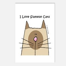 I Love Siamese Cats Postcards (Package of 8)