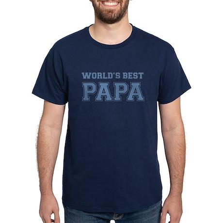 Worlds Best Papa Dark T-Shirt