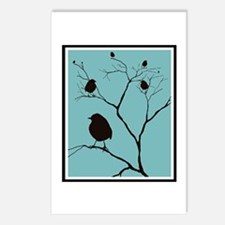 Blue Blue Blackbirds Postcards (Package of 8)