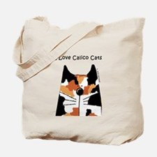 I Love Calico Cats Tote Bag