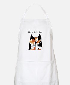 I Love Calico Cats BBQ Apron
