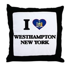 I love Westhampton New York Throw Pillow