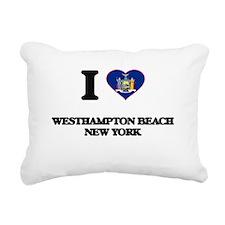 I love Westhampton Beach Rectangular Canvas Pillow
