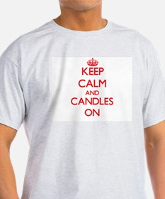 Keep Calm and Candles ON T-Shirt
