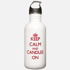 Keep Calm and Candles Water Bottle