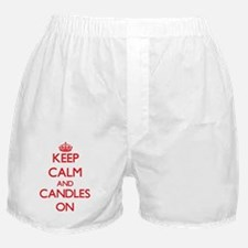 Keep Calm and Candles ON Boxer Shorts