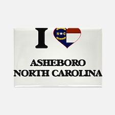 I love Asheboro North Carolina Magnets