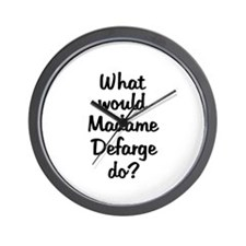 Madame Defarge Wall Clock