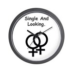 Female Gay Sex Symbol Single and Looking Wall Cloc