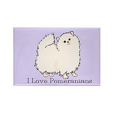 I Love Poms (Cream) Rectangle Magnet