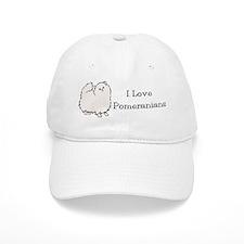 I Love Poms (Cream) Baseball Cap