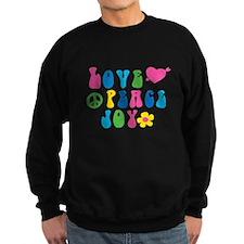 Retro Love, Peace and Joy Sweatshirt