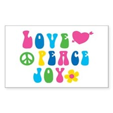 Retro Love, Peace and Joy Decal