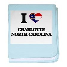 I love Charlotte North Carolina baby blanket