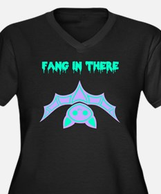 Fang in ther Women's Plus Size V-Neck Dark T-Shirt