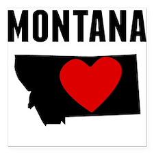 """Montana Square Car Magnet 3"""" x 3"""""""