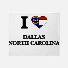 I love Dallas North Carolina Throw Blanket