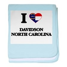 I love Davidson North Carolina baby blanket