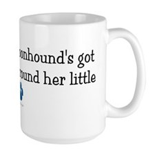 Wrapped Around Her Paw (Bluetick Coonhound) Mug