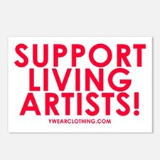 Support Living Artists Postcards (Package of 8)