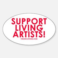 Support Living Artists Oval Decal