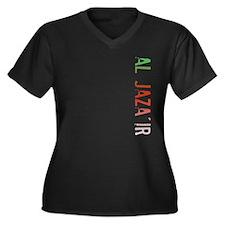 Al Jaza'ir Women's Plus Size V-Neck Dark T-Shirt
