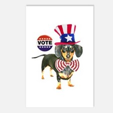 Vote Dachshund Dog Postcards (Package of 8)