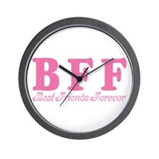 Best Friends Forever BFF Wall Clock