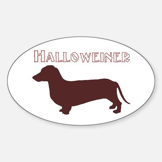 Halloweiner Oval Decal