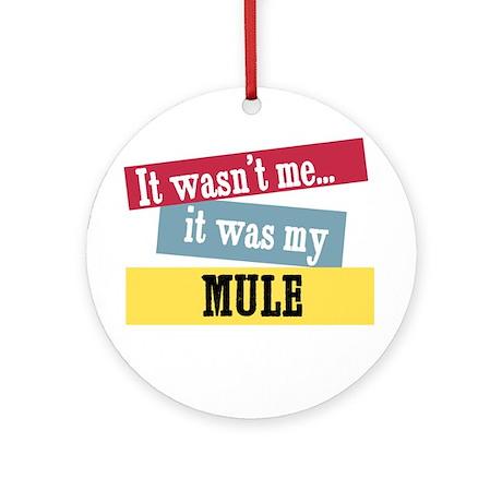 Mule Ornament (Round)
