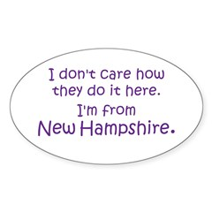 From New Hampshire Oval Decal