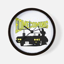 Homecoming Queen Yellow Logo Wall Clock
