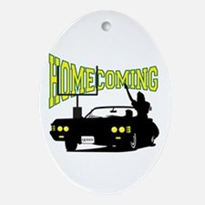Homecoming Queen Yellow Logo Oval Ornament