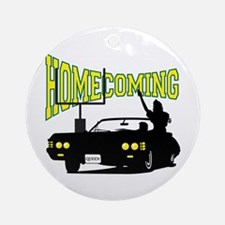 Homecoming Queen Yellow Logo Ornament (Round)