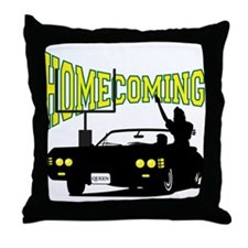 Homecoming Queen Yellow Logo Throw Pillow