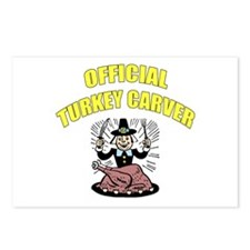 Thanksgiving - Official Turkey Carver Postcards (P