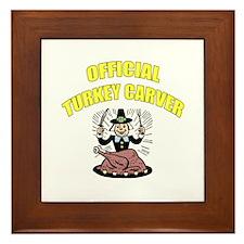 Thanksgiving - Official Turkey Carver Framed Tile