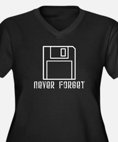 'Never Forget' Women's Plus Size V-Neck Dark T-Shi