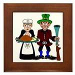 Thanksgiving Pilgrims Framed Tile