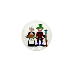 Thanksgiving Pilgrims Mini Button (10 pack)