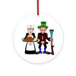 Thanksgiving Pilgrims Ornament (Round)