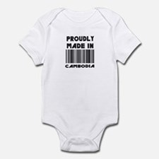 Proudly made in Cambodia Infant Bodysuit