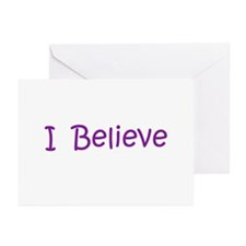 Purple I Believe Greeting Cards (Pk of 20)
