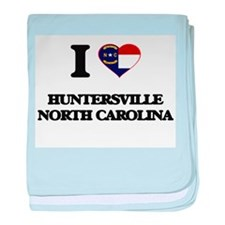 I love Huntersville North Carolina baby blanket