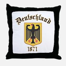 Deutschland Germany 1871 Throw Pillow