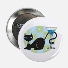 Cocktail Kitty Button