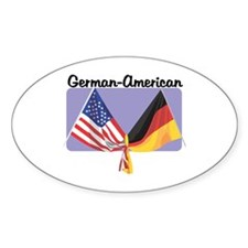 German American Oval Decal