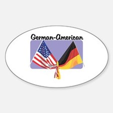 German American Oval Decal