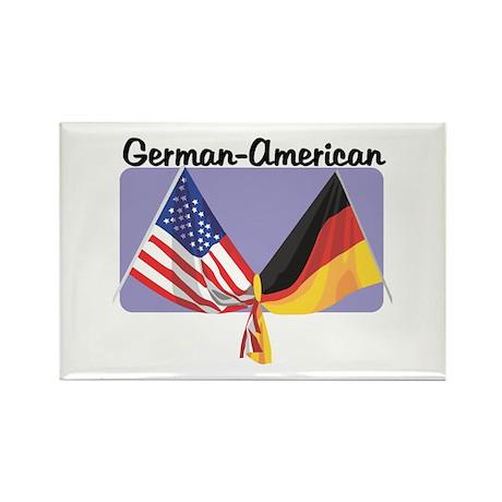 German American Rectangle Magnet