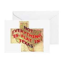 Flat Texas Greeting Card